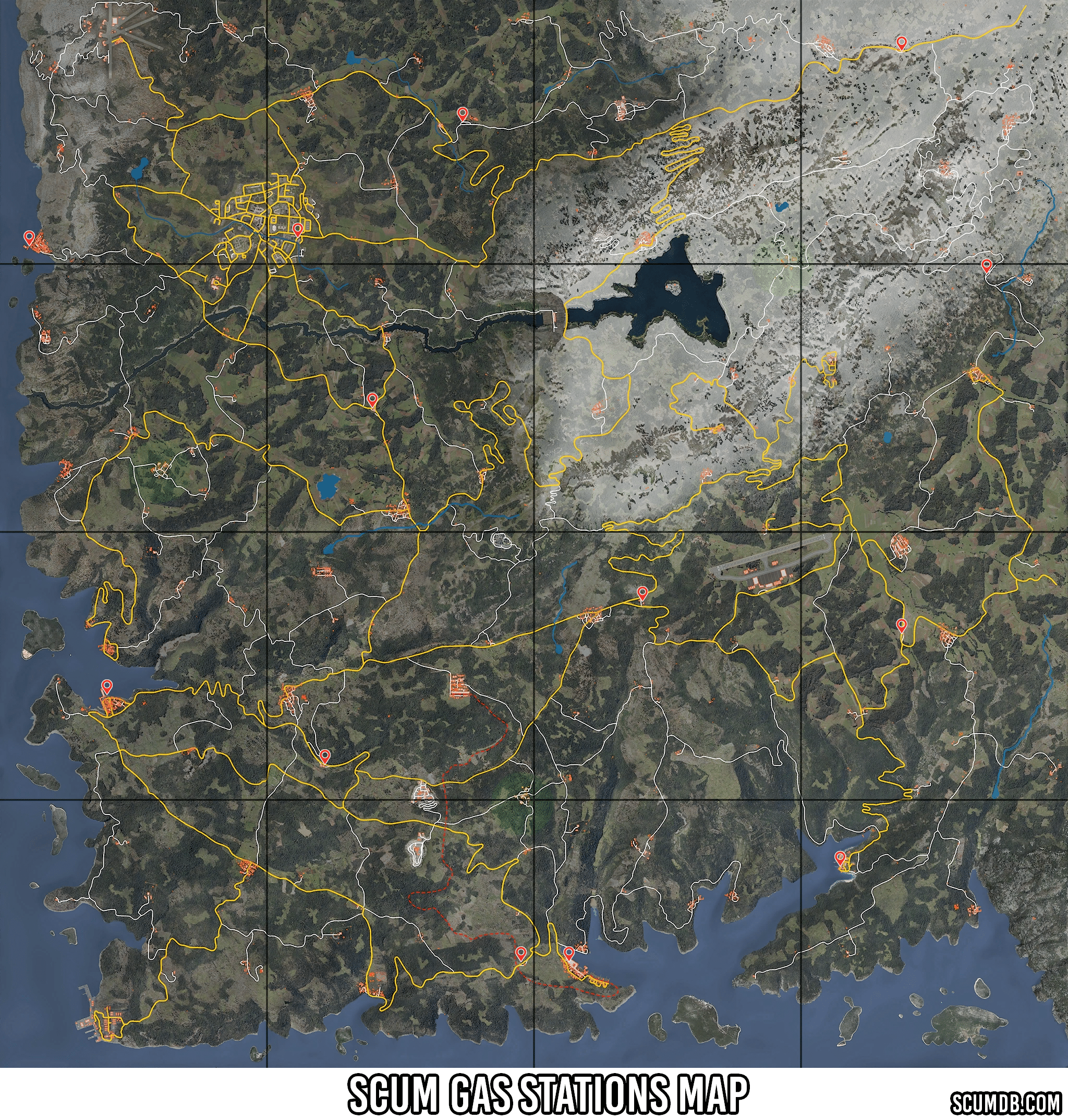 Scum Gas Station Locations Map