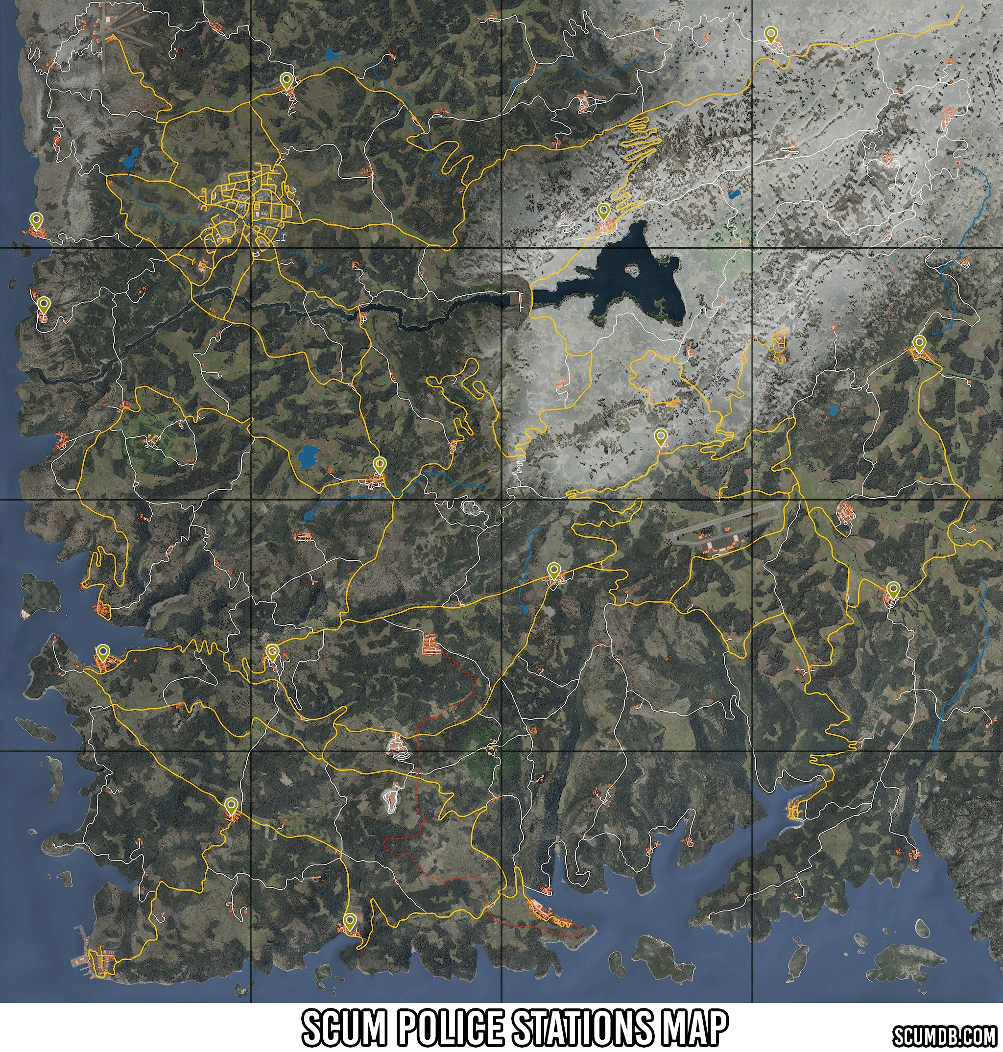 Scum Police Station Locations Map