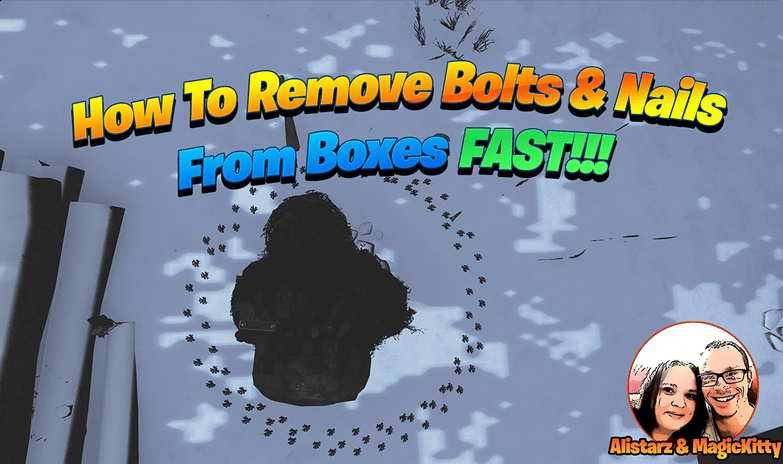 How to remove nails and bolts from boxes fast