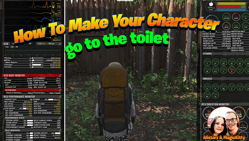 How To Make Your Character Pee and Poop